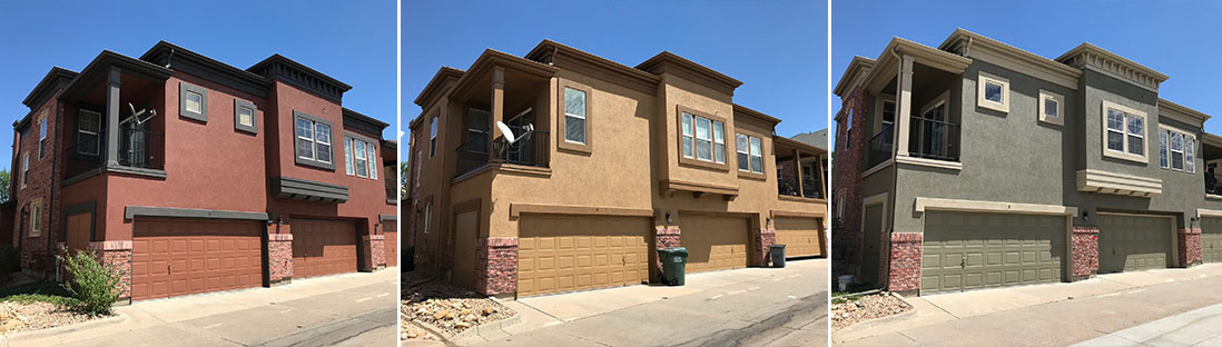 Stucco townhomes painting services